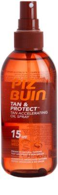 Piz Buin Tan & Protect aceite protector solar para acelerar el bronceado SPF 15 1