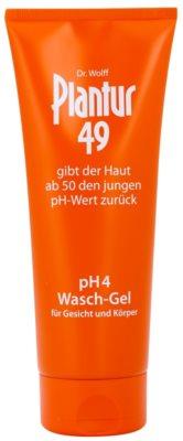 Plantur 49 upokojujúci umývací gél na tvár a telo pre omladenie pokožky pH 4