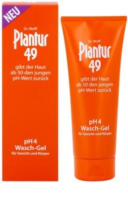 Plantur 49 upokojujúci umývací gél na tvár a telo pre omladenie pokožky pH 4 1