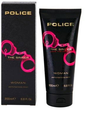Police The Sinner leite corporal para mulheres