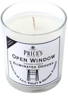 Price´s Open Window illatos gyertya   közepes