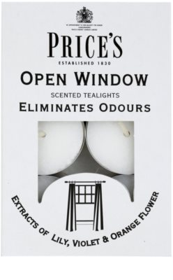 Price´s Open Window vela do chá