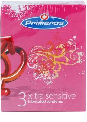 Primeros X-tra Sensitive preservativos extras finos