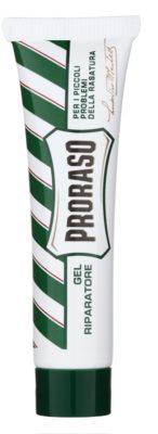 Proraso Green gel para parar o sangreamento após barbear