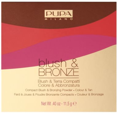 Pupa Blush & Bronze Bronzer und Rouge 2in1 2