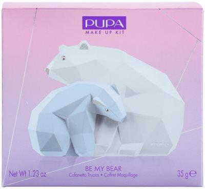 Pupa Be My Bear Palette mit Make up für Augen und Lippen 3