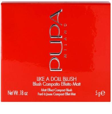 Pupa Like a Doll blush compacto com efeito matificante 3