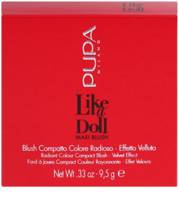 Pupa Like a Doll Maxi Blush colorete compacto con brocha y espejo 4