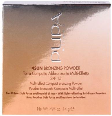 Pupa 4Sun bronzosító púder SPF 15 2