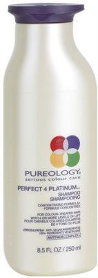 Pureology Perfect 4 Platinum sampon a szőke és melírozott hajra