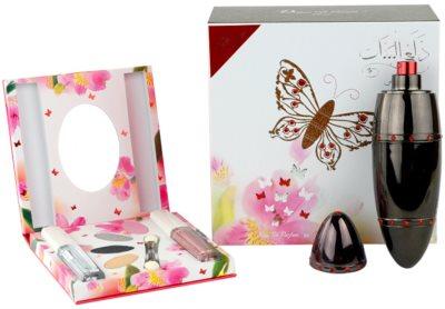 Rasasi Daala Al Banat Amani Eau de Parfum für Damen  Lidschatten + Liquid Eye Eyeliner + Lipgloss