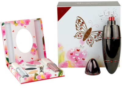 Rasasi Daala Al Banat Amani parfémovaná voda pro ženy  + oční stíny + tekuté oční linky + lesk na rty