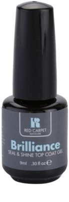 Red Carpet Brilliance vrchní lak na gelové nehty s lesklým efektem