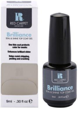 Red Carpet Brilliance strat superior de gel pentru unghii cu efect stralucitor 1