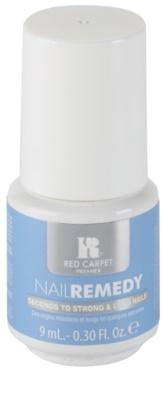 Red Carpet Nail Remedy gel lak z uporabo LED lučke za krepitev nohtov