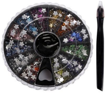 Red Carpet Crystal Gems Drehpalette mit Nagelaccessoires