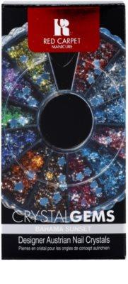 Red Carpet Crystal Gems set con decoraciones para uñas 2