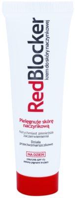 RedBlocker Day Creme mit natürlichen grünen Pigmenten zum Reduzieren von Hautrötungen SPF 15