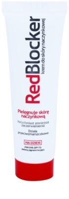 RedBlocker Day krém s přírodními zelenými pigmenty pro redukci začervenání pleti SPF 15
