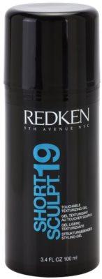 Redken Fashion Collection Short Sculpt 19 gel para el cabello para un look despeinado
