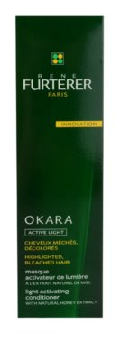 Rene Furterer Okara Active Light máscara nutritiva para cabelo loiro e com madeixas 2