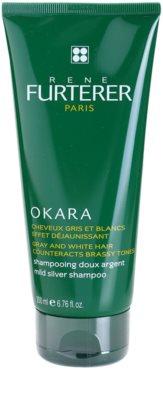 Rene Furterer Okara Protect Color sampon pentru par grizonat cu textura usoara neutralizeaza tonurile de galben