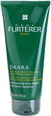 Rene Furterer Okara Protect Color schonendes Shampoo für graues Haar neutralisiert gelbe Verfärbungen