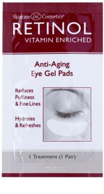 Retinol Anti-Aging podkładki żelowe pod oczy redukujące opuchliznę i zmarszczki