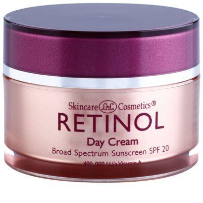 Retinol Anti-Aging schützende Tagescreme gegen Hautalterung SPF 20