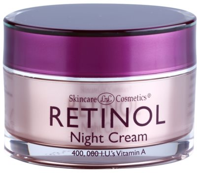 Retinol Anti-Aging faltenfüllende Nachtcreme gegen die Zeichen des Alterns