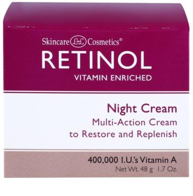 Retinol Anti-Aging ráncfeltöltő éjszakai krém az öregedés jelei ellen 3