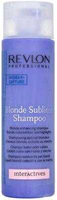 Revlon Professional Interactives Blonde Sublime sampon pentru par blond
