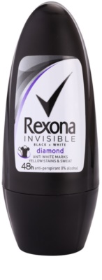 Rexona Invisible Black + White Diamond roll-on antibacteriano