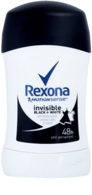 Rexona Invisible Black + White Diamond antitranspirante en barra 48h
