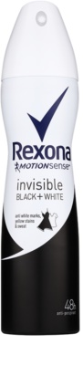 Rexona Invisible Black and White antiperspirant spray -ben