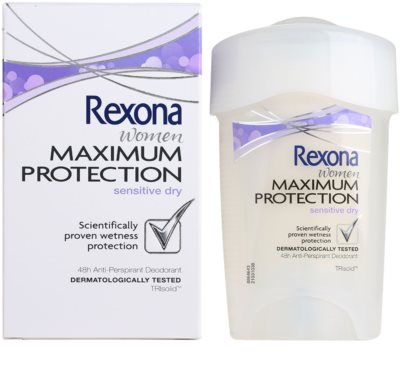 Rexona Maximum Protection Sensitive Dry krémes izzadásgátló 48h 3