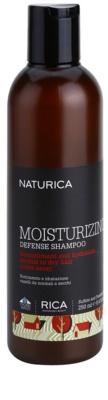 Rica Naturica Moisturizing Defense Champô hidratante para proteção da cor para cabelo normal a seco
