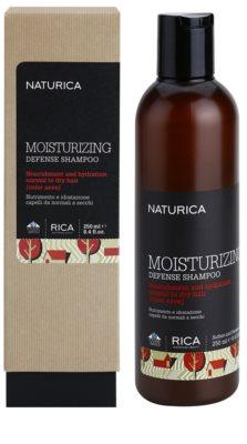 Rica Naturica Moisturizing Defense Champô hidratante para proteção da cor para cabelo normal a seco 1
