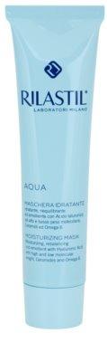 Rilastil Aqua máscara hidratante com ácido hialurônico com ácido hialurónico