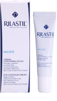 Rilastil Micro krema za predel okoli oči proti gubam, zabuhlosti in temnim kolobarjem 1