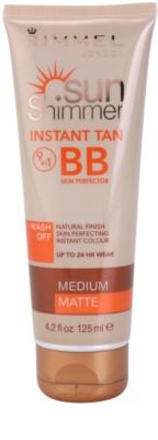 Rimmel Sun Shimmer Instant Tan crema BB  para el cuerpo