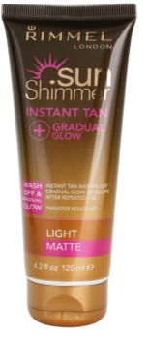 Rimmel Sun Shimmer Instant Tan gel pentru bronzare lavabil