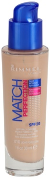 Rimmel Match Perfection base líquida SPF 20 1