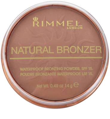 Rimmel Natural Bronzer wasserfester Bronzierpuder SPF 15