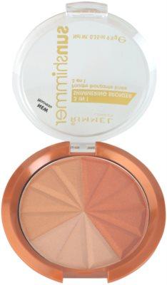 Rimmel Sun Shimmer 3 in 1 Shimmering Bonzer csillogó bronzpúder