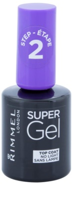 Rimmel Super Gel Step 2 fedő és védő magas fényű körömlakk