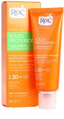 RoC Soleil Protect матуючий флюїд для засмаги SPF 30 1