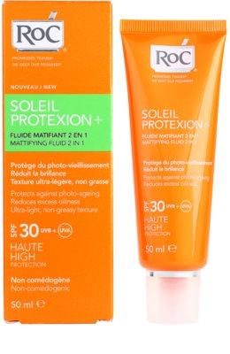 RoC Soleil Protect матуючий флюїд для засмаги SPF 30 2