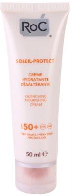 RoC Soleil Protect crema hidratante bronceadora  SPF 50+