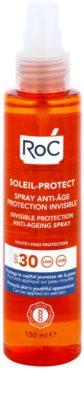 RoC Soleil Protect spray de protecție transparent împotriva îmbătrânirii pielii SPF 30 1